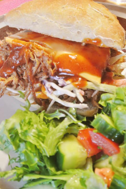 Pulled Pork Barbeque Burger