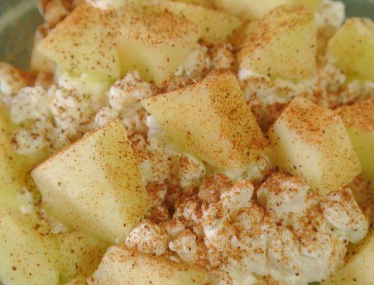 Iltapala omena kaneli raejuusto