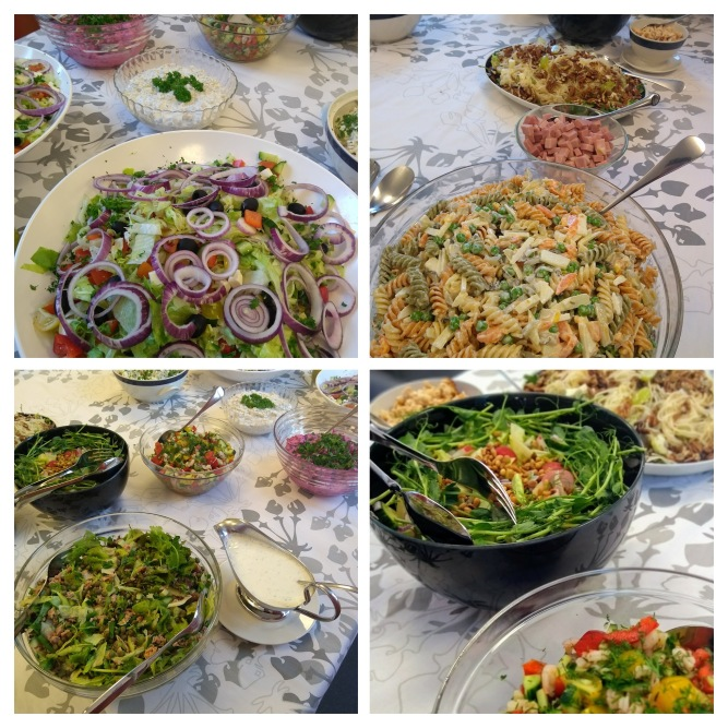 Fazer kokkiopiskelijoiden salaatteja